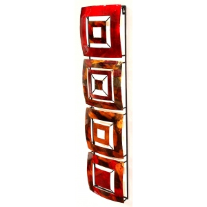 Tabitha Vertical 4-panel Metal Wall  decor