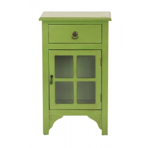 Vivian 1-drawer, 1-door Accent Cabinet W/ Paned Glass Inserts