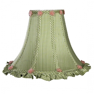 Jubilee Collection Large Ruffled Edge Shade: Green Check