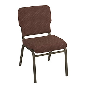 "KFI WB1020 ""1000"" Series 2"" Seat Wing Back Stack Chair with Grade 2 Fabric, Without Arms"