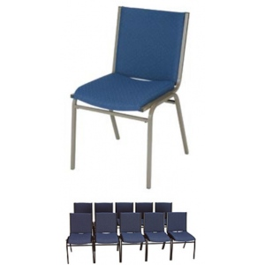 "KFI 420 ""400"" Series 2"" Seat Stack Chair with Grade 1 Fabric"