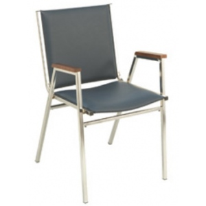 "KFI 411 ""400"" Series 1"" Seat Stack Chair with Grade 3 Fabric"