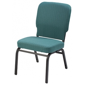 "KFI ""HTB1040"" Series 3.5"" Seat Stack Chair with Grade 2 Fabric, Without Arms"