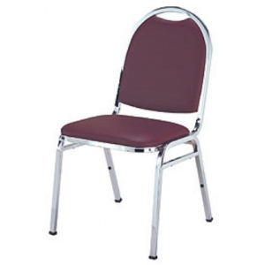 "KFI 510 ""500"" Series 1"" Seat Stack Chair with Grade 3 Fabric, Without Arms"