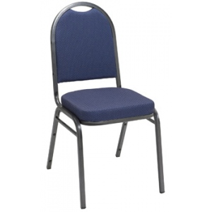 KFI IM520SV Series Stack Chair: Silver Frame with Vinyl