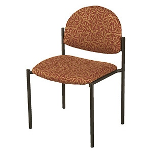 "KFI 1310 ""1300"" Series Stack Chair with Vinyl Fabric: 1 1/2"" Seat, Without Arms"