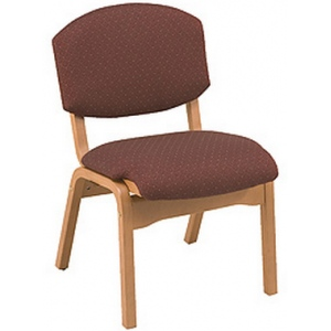 """KFI CH120 """"100"""" Series Wood Stack Chair with Vinyl Fabric"""