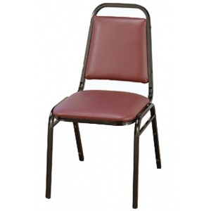 "KFI 810 ""800"" Series 1 1/2"" Dome Seat Stack Chair with Grade 2 Fabric, Without Arms"