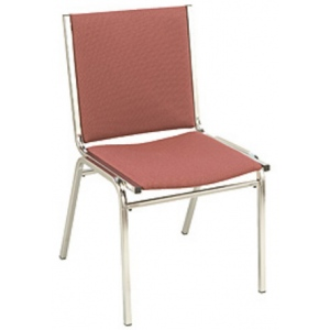 """KFI 410 """"400"""" Series 1"""" Seat Stack Chair with Vinyl Fabric"""