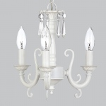 Jubilee Collection 3 Arm Scroll Chandalier: White