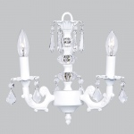 Jubilee Collection 3 Arm Stacked Glass Ball Chandelier: White