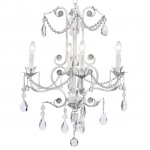Jubilee Collection 4 Arm Valentino Chandelier: White