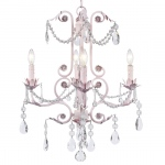 Jubilee Collection 4 Arm Valentino Chandelier: Pink