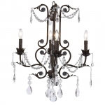 Jubilee Collection 4 Arm Valentino Chandelier: Mocha