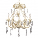 Jubilee Collection 5 Arm Ballroom Chandelier: Ivory