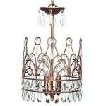 Jubilee Collection 3 Light Crown Chandelier: Antique Gold