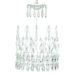 Jubilee Collection 3 Light Crown Chandelier: White