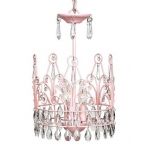 Jubilee Collection 3 Light Crown Chandelier: Pink