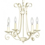Jubilee Collection 4 Arm Harp Chandelier: Ivory