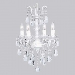 Jubilee Collection 4 Light Crystal Glass Center Chandelier: White