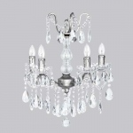 Jubilee Collection 4 Light Crystal Glass Center Chandelier: Pewter