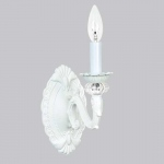 Jubilee Collection 1 Arm Turret Wall Sconce: White