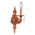 Jubilee Collection 1 Arm Scroll  Wall Sconce: Antique Gold