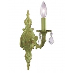 Jubilee Collection 1 Arm Scroll Wall Sconce: Green