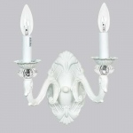 Jubilee Collection 2 Arm Turret Wall Sconce: White
