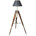 Authentic Models Campaign Tripod Lamp, Black Shade