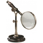 Authentic Models Magnifying Glass with Stand: Bronze