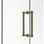 Allied Brass Contemporary 12 Inch Back to Back Shower Door Pull (product:404-12BB, option:404-12BB-ABR): Antique Brass