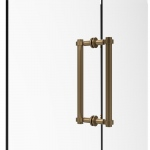 Allied Brass Contemporary 12 Inch Back to Back Shower Door Pull (product:404-12BB, option:404-12BB-BBR): Brushed Bronze