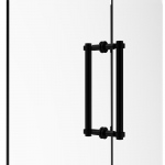 Allied Brass Contemporary 12 Inch Back to Back Shower Door Pull (product:404-12BB, option:404-12BB-BKM): Matte Black