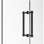 Allied Brass Contemporary 12 Inch Back to Back Shower Door Pull (product:404-12BB, option:404-12BB-ORB): Oil Rubbed Bronze