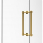 Allied Brass Contemporary 12 Inch Back to Back Shower Door Pull (product:404-12BB, option:404-12BB-PB): Polished Brass