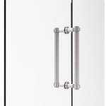 Allied Brass Contemporary 12 Inch Back to Back Shower Door Pull (product:404-12BB, option:404-12BB-PC): Polished Chrome