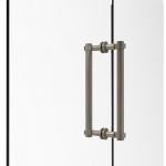 Allied Brass Contemporary 12 Inch Back to Back Shower Door Pull (product:404-12BB, option:404-12BB-PEW): Antique Pewter