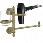 Allied Brass Dottingham Collection Hair Dryer Holder and Organizer (product:DT-GTBD-1, option:DT-GTBD-1-ABR): Antique Brass