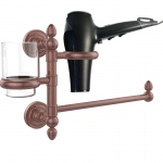 Allied Brass Dottingham Collection Hair Dryer Holder and Organizer (product:DT-GTBD-1, option:DT-GTBD-1-CA): Antique Copper