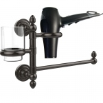 Allied Brass Dottingham Collection Hair Dryer Holder and Organizer (product:DT-GTBD-1, option:DT-GTBD-1-ORB): Oil Rubbed Bronze