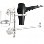 Allied Brass Dottingham Collection Hair Dryer Holder and Organizer (product:DT-GTBD-1, option:DT-GTBD-1-PC): Polished Chrome