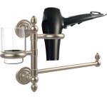 Allied Brass Dottingham Collection Hair Dryer Holder and Organizer (product:DT-GTBD-1, option:DT-GTBD-1-PEW): Antique Pewter