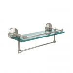 Allied Brass 16 Inch Gallery Glass Shelf with Towel Bar (product:MC-1TB/16-GAL, option:MC-1TB/16-GAL-PNI): Polished Nickel