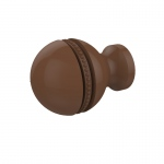 Allied Brass 1 Inch Beaded Cabinet Knob (product:P-1, option:P-1-ABZ): Antique Bronze