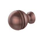 Allied Brass 1 Inch Beaded Cabinet Knob (product:P-1, option:P-1-CA): Antique Copper
