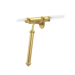 Allied Brass Shower Squeegee with Smooth Handle (product:SQ-20, option:SQ-20-PB): Polished Brass