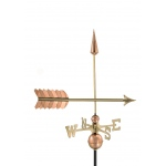 Arrow Weathervane - Polished Copper by Good Directions