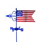 Americana Flag Cottage Weathervane w/Roof Mount by Good Directions