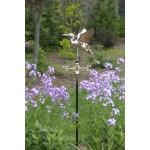 Blue Heron Garden Weathervane - Polished Copper w/Garden Pole by Good Directions